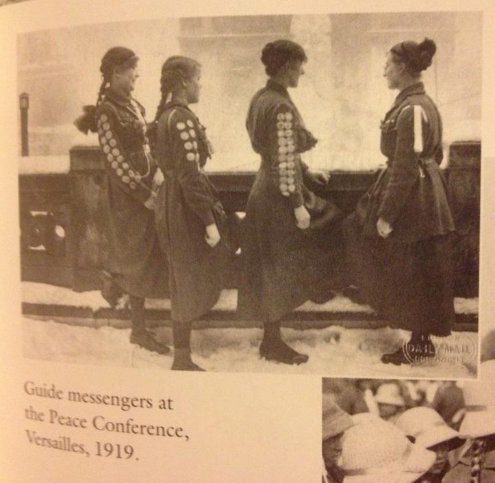 Girl Guide Uniform at Versailles, 1919