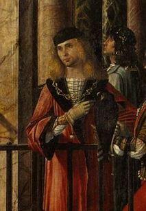 Venetian 1490s painting by Carpaccio, showing spiral lacing.
