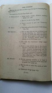 1918 Girl Guide Uniform First Class Test.
