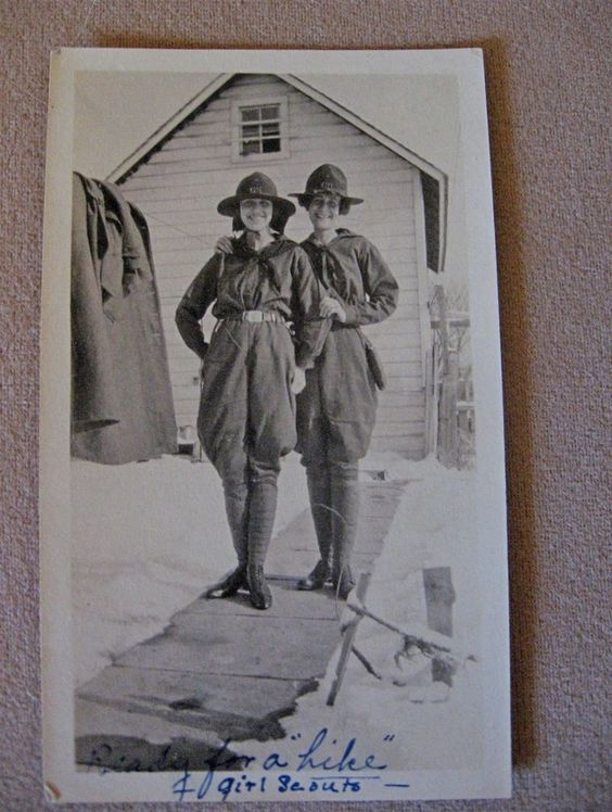 1918 Girl Scouts in Jodhpurs
