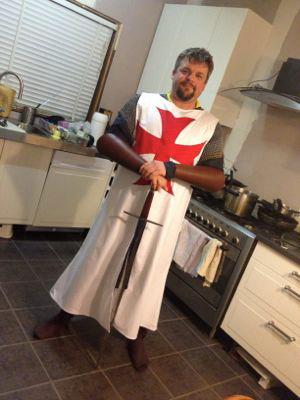 A 12th Century style crusader tabard.