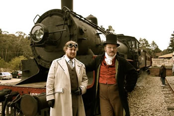 Homemade Steampunk costumes.
